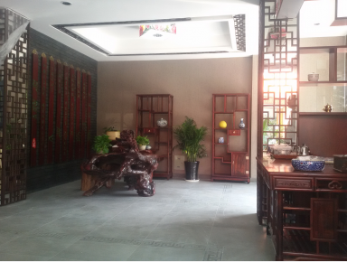 杭州茶室会所装修设计 中式风格复式装修效果图