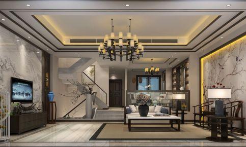 成都鹭湖宫别墅装修案例效果图 中式风格别墅装修设计