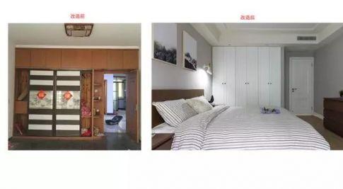 海口两居室旧房改造  现代风格两房装修设计