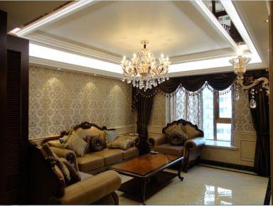 铂金家园三居室装修设计 欧式风格家庭装修效果图