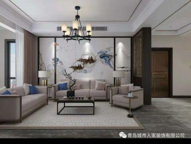 海德堡四居室装修设计 中式风格家庭装修效果图
