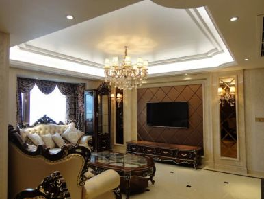 铂金家园三居室装修 欧式风格家庭装修效果图欣赏