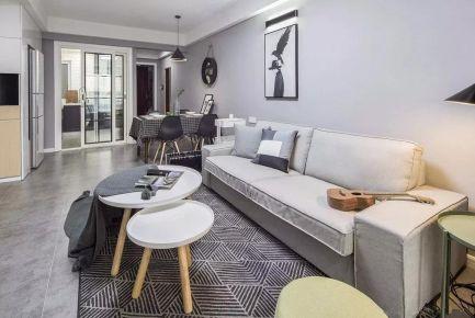 天泰人和两居室装修设计 简约风格两房装修效果图