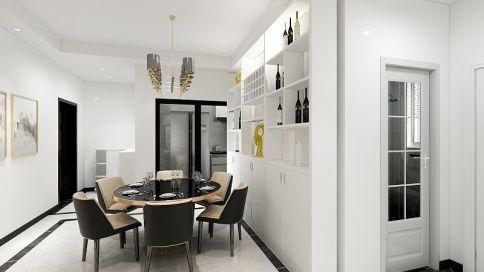 路劲现代风格三居室装修效果图