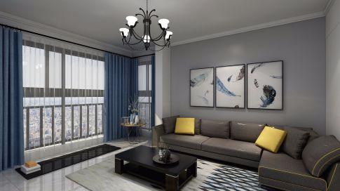 嘉美苑现代简约风格三居室装修案例