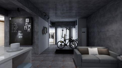 广东中山工业风两居室装修案例