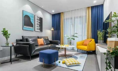 孔雀城学府澜湾简约风格两居室装修案例