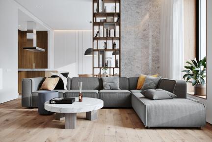 简约原木设计现代风格三居室装修案例