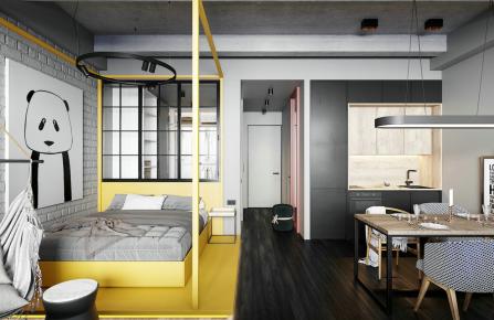 简单舒适现代风格三居室装修案例
