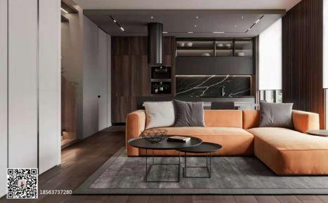 温暖的橙与木棕现代风格三居室装修案例