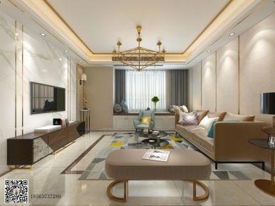 济南中海国际社区三房装修  现代风格家庭装修设计案例