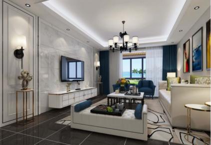 西安蔷薇溪谷180平米现代风格设计 现代风格四房装修效果图