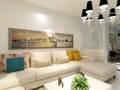 广东珠海斗门区金地格林泊乐现代风格三房装修设计
