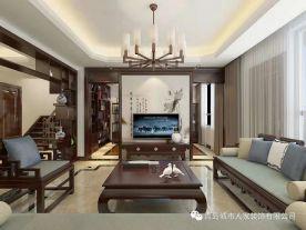 青岛龙湖锦璘三居室装修  中式风格三房装修效果图
