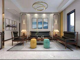 青岛绿城蓝庭四居室装修 中式风格四房装修效果图