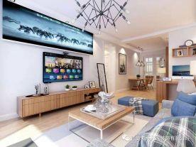 青岛中南世纪城三房装修设计  欧式风格家庭装修效果图