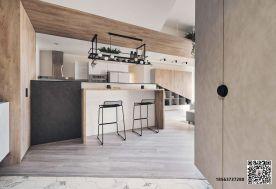济南保利中心三房装修设计 现代风格家庭装修效果图