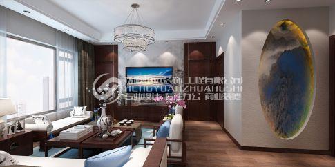抚顺汇银东第  中式风格复式装修设计效果图欣赏