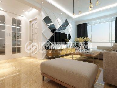 月牙岛国际社区张先生的家 现代风格两房装修设计