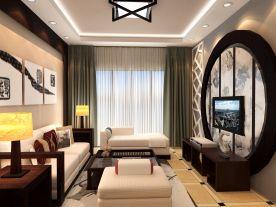 烟台福和居中式风格三房装修设计效果图欣赏