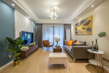 重庆金茂珑悦112平四居室现代简约实景装修案例 俏业家装饰