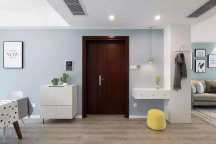 120㎡北欧风三居室装修  北欧风格家庭装修效果图