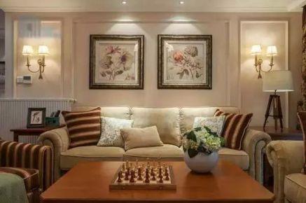 153平米新美式风格装修设计 美式风格四房装修案例