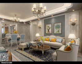 津南金色悦城三房装修  欧式风格家庭装修效果图