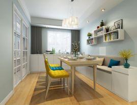 西安宫园中央150平米四居室现代北欧风格装修效果图