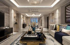 国熙台220㎡四居室现代轻奢风装修效果图  现代风格四房装修设计