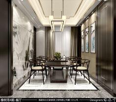 厦门橡树湾新中式风格装修  三居室新中式风格装修效果图