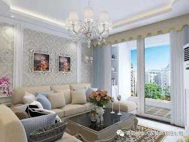 青岛九里公馆三居室装修  欧式风格家庭装修效果图