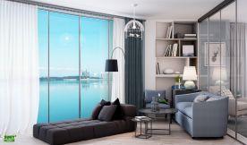 厦门园博湾三房装修设计  现代风格家装效果图欣赏