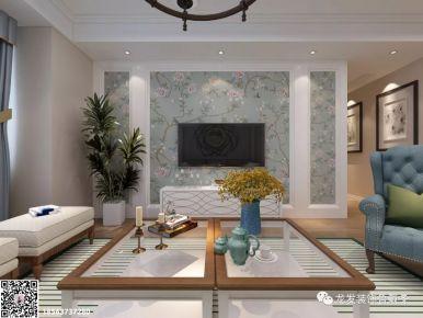 鲁能领秀城三房装修  美式风格家庭装修效果图