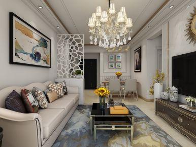 德州温馨舒适小两居装修 创意混搭风格家庭装修案例
