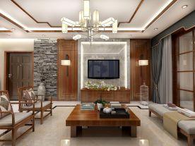 德州中式风格三房装修 中式风格家庭装修效果图