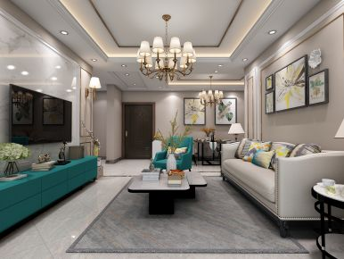 德州华嬉庄园小三室装修  现代风格三房装修案例欣赏