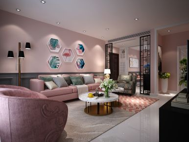 西安保利公馆 三居室现代风格家庭装修效果图