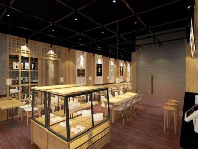 惠州万汇城连锁奶茶店设计装修案例 复古风连锁奶茶店装修