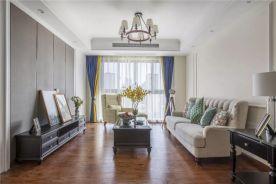 廊坊狮子城百合园三居室装修 美式风格三房装修效果图