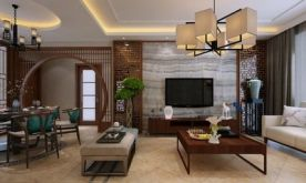 福州中式风格三房装修   中式风格家庭装修效果图
