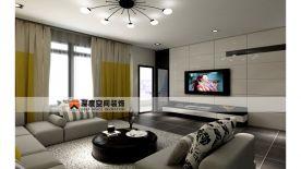 惠州东南首府三房装修  简约风格家庭装修效果图