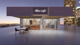 三新Han cape咖啡厅设计装修 简约风格咖啡厅装修效果图