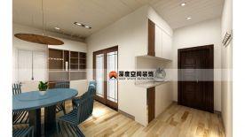 惠州方直东岸三居室雅居装修 简约风格家庭装修设计