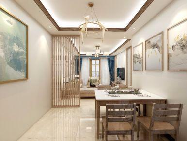 惠州美丽洲钟总雅居新中式风格四居室装修效果图