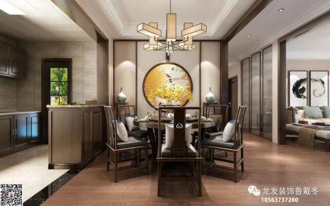 济南绿城百合花园三居室装修  中式风格家庭装修效果图