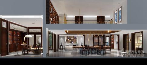 现代新中式风格别墅装修效果图 现代新中式的风骨与时尚气息