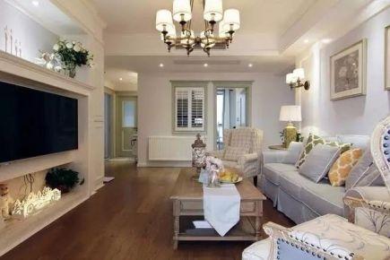 轻美式风格三房装修设计  美式风格家庭装修效果图