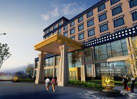雪域情歌藏式酒店设计方案 田园风格酒店装修效果图
