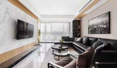 黑白简约风三房装修设计 简约风格家庭装修效果图